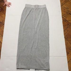 Silence & Noise Black White Striped Skirt XS  Slit